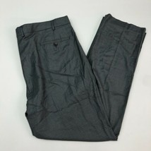 Kenneth Cole Dress Pants Mens 40X32 Gray Flat Front Stretch Slash Pocket... - $18.95