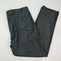 Kenneth Cole Dress Pants Mens 40X32 Gray Flat Front Stretch Slash Pocket... - $18.95