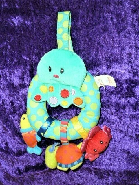 Primary image for Bright Starts Baby Toy Under the Sea Ocean Octopus Fish Crab Turtle Rattle Plush