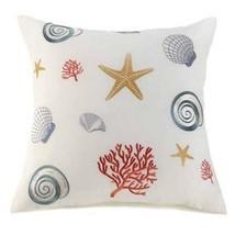 Sea Theme Off-White Large Throw Pillow - $26.99