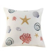 Sea Theme Off-White Large Throw Pillow - $26.99