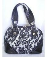 New BEBE Black lace White Patent Satchel  Bag Valentine Birthday Present... - $41.65