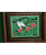 Hand painted Custom Framed Original Art painting on Canvas Signed Tropic... - $151.99