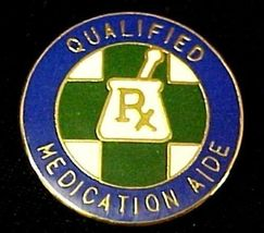 Qualified Medication Aide Lapel Pin  Graduation Recognition RX Medical 5029 New image 4