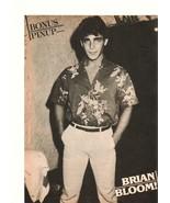 Brian Bloom teen magazine pinup clipping slacks flower shirt Teen Beat T... - $2.50