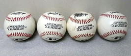 "Lot of 4 Rawlings Official League OLB3 Baseballs 5oz, 9""  FAST SHIPPING - $29.99"