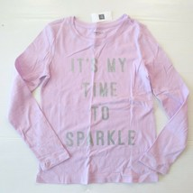 "Gap Kids 'It's My Time To Sparkle"" Graphic Lilac Shirt - L (10) - NWT - $7.99"