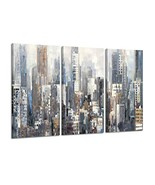 Hardy Gallery Abstract City Picture Wall Art: Urban Downtown Artwork Pai... - $48.75