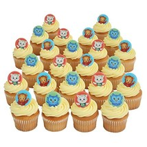 Daniel Tiger Officially Licensed 24 Cupcake Topper Rings by Bakery Crafts - $15.79