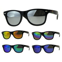 Kids Color Mirror Boys Black Plastic Horn Rim Hipster Sunglasses - $9.95