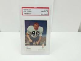 1961 Fleer Football Joe Young #153 PSA 8 NM-MT 8 Denver Broncos Card - $24.42