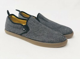 Sanuk Range Tx Slip On Loafers Black Gum Chambray Men's Shoes 1014116 Yoga Mat - $34.99