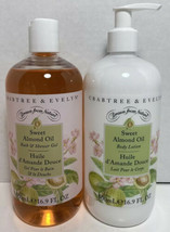Crabtree & Evelyn Sweet Almond Oil Shower Gel + Lotion-16.9 oz- - $37.99