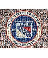 NY Rangers Mosaic Print Art Designed Using Over 80 Past and Present Rang... - $42.00+