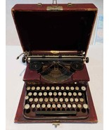 Vintage Royal P Portable Working Textured Red Alligator Typewriter w Har... - $296.95