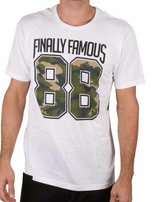 Finally Famous Men's White The 88 City Detroit Rapper Big Sean Hip Hop T-Shirt