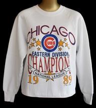 Vintage 80s Chicago Cubs Raglan Sweatshirt Eastern Division Champions SM... - $39.99