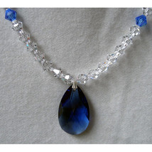 Crystal Bicone Necklace with Drop Pendant image 2