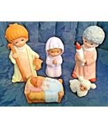 Vintage...Homco #5602...5 Piece Children Christmas Nativity Figurines - $10.39