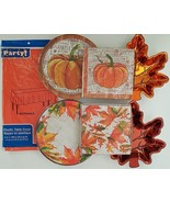 Fall Harvest Thanksgiving Luncheon Plates, Napkins, Table Covers, Select... - $2.99