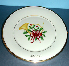 Lenox Holiday French Horn Accent Plate 2011 Collector Limited Edition New - $84.90
