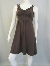 Ann Taylor Loft Dress Size S Brown Empire Sundr... - $19.16