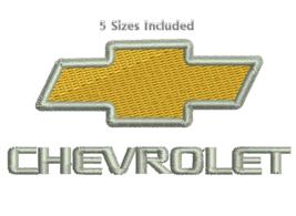 Chevrolet Chevy Car logo Digitized filled embroidery design Digital Down... - $4.50