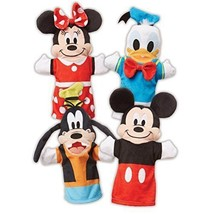 Toys For Kids Girls Boys Set 4 Pcs Hand Puppets Plush Mickei Mouse Soft ... - $28.71