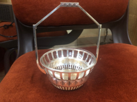 planter or Sugar bowl silver plated + glass - $99.00