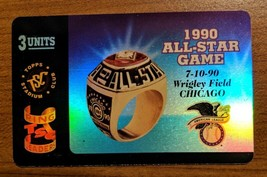 Wrigley Field 1990 All-Star Game Topps Stadium Club Gold Ring Leaders Ph... - $4.94