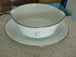 Noritake gravy bowl with underplate (Isabella) 1 available - $18.76