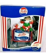 Pepsi Cola Matrix Santa Claus Holiday Collectible Christmas Ornament 1997 - $24.82