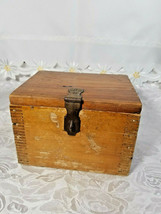 VINTAGE CLARITE HIGH SPEED COLUMBIA TOOL STEEL CO. WOODEN BOX image 1