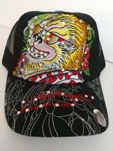 7ab1fc63abd Ed Hardy Black Cap Foo Dog Glasses Hearts w  Rhinestones Women Men Hat -   12.99