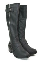 Rampage Mercer Women's Black Knee-High Zip Boots Size 6 M   - $29.69