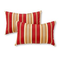 Greendale Home Fashions Rectangle Outdoor Accent Pillow set of 2, Roma S... - $36.66