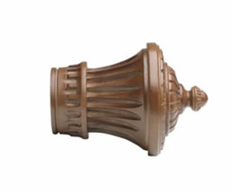 "Kirsch Wood Trends Classics Charleston Finial, for 2"" pole, Walnut (# 46802085) - $30.67"