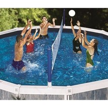 Swimline 9187SL Jammin' Above-Ground Cross Pool Volleyball Game 9187 - $48.94