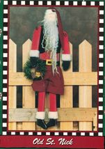 """L.A. Designs 20"""" Old St. Nick Christmas Woodworking Display Craft Pattern - $11.99"""