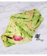 Cotton Face Mask Yellow Tropical Leaf Lilly Style Double Layer Handmade USA - $13.50