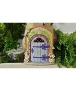 """12.2"""" Fairy Garden Door Figurine w Textural Wood & Floral Detailing - Welcome - $44.54"""