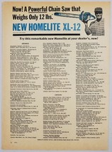 1964 Print Ad New Homelite XL-12 Chain Saws Bossier City,Louisiana - $11.56