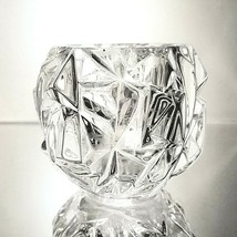 2 (Two) TIFFANY & CO ROCK CUT Lead Crystal Votive Candle Holders- Signed image 2