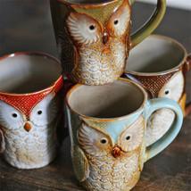 Smteapot Cute Owl Creative Coffee Milk Tea Cups Ceramic Mug - $37.95