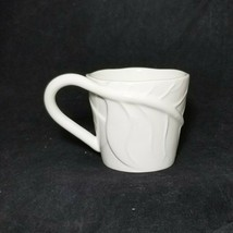 Starbucks Coffee White Leaf  2008 Mug Cup Embossed Wrap Vein Bone China ... - $27.67