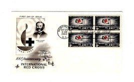 FDC ENVELOPE- INTERNATIONAL RED CROSS BL4-1963 ART CRAFT CACHET BK12 - $1.96