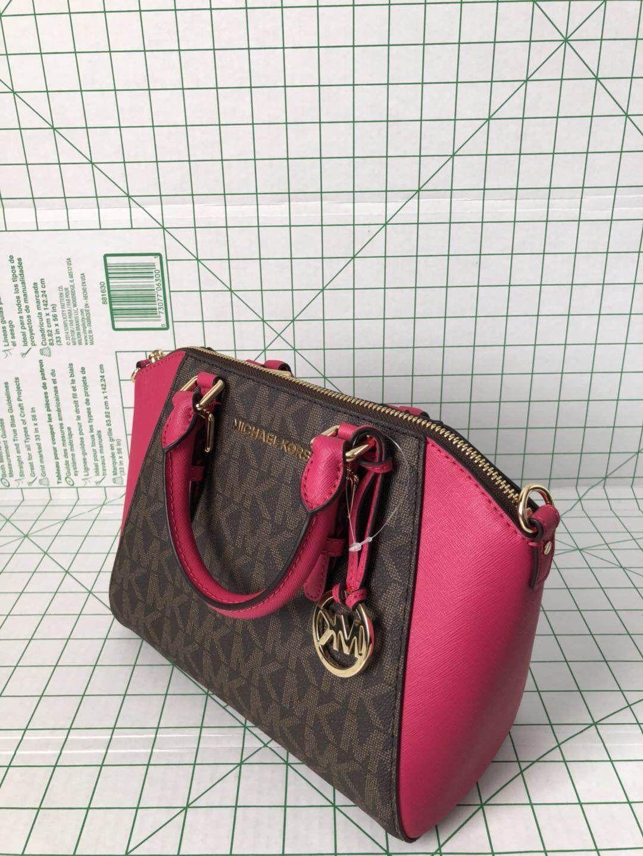 eaec6a0f2d3c S l1600. S l1600. Previous. Michael Kors Medium Ciara Ultra Pink Brown PVC  Saffiano Messenger Satchel Bag