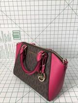 Michael Kors Medium Ciara Ultra Pink Brown PVC Saffiano Messenger Satche... - $2.278,19 MXN