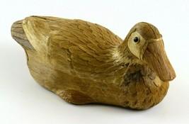 "Folk Art Vintage Corn Husk Duck, Neat Vintage Handmade Decoy Figure, 10""... - $17.81"