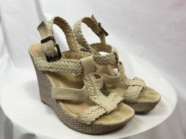 Soda Off White Wedge Platform Sandals, Womens  Size 8M - $14.24